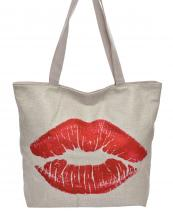 AO836(BG)-wholesale-handbag-tote-beach-bag-graphic-print-cotton-canvas-fashion-kiss-mark-lips-red-lipstick(0).jpg