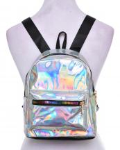 AO853(SL)-wholesale-backpack-solid-color-patent-faux-leatherette-black-nylon-strap-rainbow-zipper-gold-pocket(0).jpg