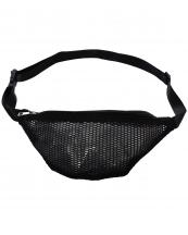 AO870(BK)-wholesale-fanny-pack-mesh-polyester-material-faux-leather-silver-tone-hardware-zippered-pocket(0).jpg
