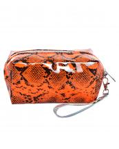AO890(OR)-wholesale-cosmetic-pouch-bag-animal-snake-pattern-detachable-glossy-wristlet-strap-polyester(0).jpg