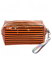 AO891(OR)-wholesale-cosmetic-pouch-bag-stripe-pattern-detachable-glossy-wristlet-strap-polyester(0).jpg