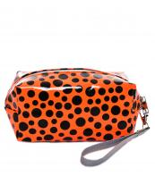 AO892(OR)-wholesale-cosmetic-pouch-bag-spotted-pattern-detachable-glossy-wristlet-strap-polyester(0).jpg
