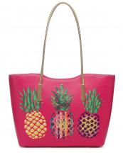 APPF25441A(FU)-wholesale-handbag-tote-pineapple-aztec-serape-gradient-gold-shiny-leatherette-handle-leaf-graphic(0).jpg
