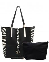 AY0016(BKZEBRA)-wholesale-handbag-pouch-bag-set-2pc-zebra-fringe-animal-pattern-vegan-leather-flap-gold-metal-belt(0).jpg