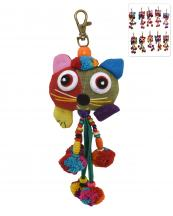 BACR006(MUL)-wholesale-key-chain-doll-cat-animal-multicolor-patchwork-3d-dangling-droplet-beads-pompom-handmade(0).jpg