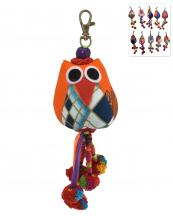 BACR008(MUL)-wholesale-key-chain-doll-owl-animal-multicolor-patchwork-3d-dangling-droplet-beads-pompom-handmade(0).jpg