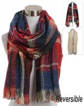 BASC7171(RD)-wholesale-scarf-oblong-oversize-plaid-solid-color-plain-knitted-fringe-reversible-versatile-acrylic-(0).jpg