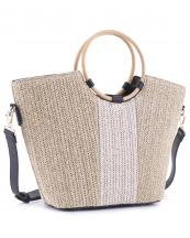 BJ5692(NATBK)-wholesale-fabric-texture-tote-bag-vegan-leatherette-wood-double-handle(0).jpg