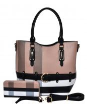 BL1003S(BRBK)-(SET-2PCS)-wholesale-handbag-wallet-plaid-checkered-pattern-2pc-set-belt-buckle-strap-gold-faux-wristlet-(0).jpg