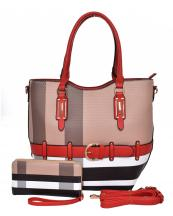 BL1003S(BRRD)-(SET-2PCS)-S13-wholesale-handbag-wallet-plaid-checkered-pattern-2pc-set-belt-buckle-strap-gold-faux-wristlet-(0).jpg