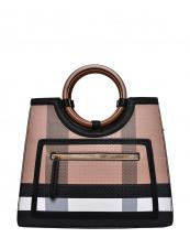 BL4122(BRBK)-wholesale-handbag-plaid-checkered-pattern-pocket-leatherette-strap-gold-vegan-wood-feel-handle(0).jpg