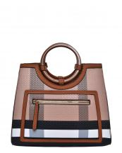 BL4122(BRBR)-wholesale-handbag-plaid-checkered-pattern-pocket-leatherette-strap-gold-vegan-wood-feel-handle(0).jpg