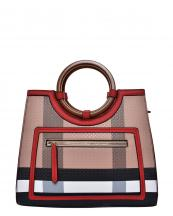 BL4122(BRRD)-wholesale-handbag-plaid-checkered-pattern-pocket-leatherette-strap-gold-vegan-wood-feel-handle(0).jpg