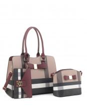 BL5257T(BRBD)-(SET-3PCS)-wholesale-handbag-wallet-plaid-checkered-flap-over-strap-faux-leatherette-gold-hardware-wristlet-set(0).jpg