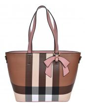 BL5607(BRMA)-wholesale-handbag-plaid-checkered-pattern-ribbon-bow-gold-metal-ring-faux-leatherette-pocket-divider(0).jpg
