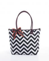 CC302(BKWHBR)-wholesale-handbag-tote-bag-quilt-quilted-chevron-fabric-embroiderable-bow-ribbon-poket-multi-color(0).jpg