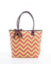CC302(FUSLMD)-wholesale-handbag-tote-bag-quilt-quilted-chevron-fabric-embroiderable-bow-ribbon-poket-multi-color(0).jpg