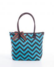 CC302(TURBRBR)-wholesale-handbag-tote-bag-quilt-quilted-chevron-fabric-embroiderable-bow-ribbon-poket-multi-color(0).jpg