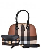 CH1208S(BRBK)-(SET-2PCS)-wholesale-handbag-wristlet-plaid-checkered-pattern-gold-hardware-faux-leatherette-envelope-flap-2pc(0).jpg