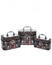 CO416(MUL)-(SET-3PCS)-wholesale-cosmetic-case-bag-michelle-obama-faux-patent-leatherette-multi-color-silver-mirror-3pc-set(0).jpg