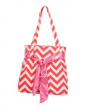 CV003(FU)-wholesale-chevron-handbag-zigzag-canvas-lightweight-ribbon-polka-dot(0).jpg