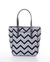 CW305(BK)-wholesale-handbag-tote-bag-quilt-quilted-chevron-fabric-embroiderable-buckle-poket-multi-color(0).jpg