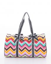 CW703(MULBK)-wholesale-travel-duffle-bag-chevron-zipper-quilt-quilted-fabric-embroiderable-bow-ribbon(0).jpg
