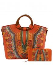 D0427W(OR)-(SET-2PCS)-wholesale-handbag-wallet-2pc-set-tribal-southwestern-ethnic-pattern-multi-color-wood-handle-vegan-(0).jpg