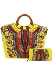 D0427W(YE)-(SET-2PCS)-W16-wholesale-handbag-wallet-2pc-set-tribal-southwestern-ethnic-pattern-multi-color-wood-handle-vegan-(0).jpg