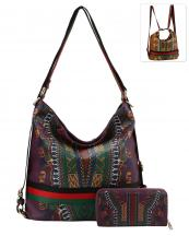 D0441W(PP)-wholesale-handbag-wallet-backpack-convertible-dashiki-stripe-multicolor-ethnic-gold-vegan-leather(0).jpg
