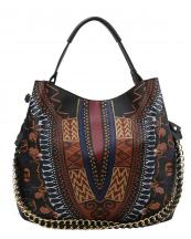 D0443(BK)-wholesale-handbag-dashiki-ethnic-pattern-multicolor-gold-chain-strap-stitch-belt-buckle-vegan-tribal(0).jpg