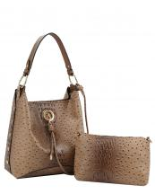 D0533(TAN)-(SET-2PCS)-wholesale-handbag-pouch-bag-alligator-ostrich-animal-vegan-leatherette-strap-gold-metal-chain-studs(0).jpg