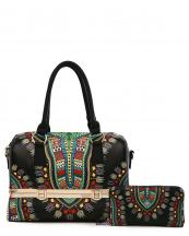 DAS15627W(BK)-wholesale-handbag-wallet-2pc-set-dashiki-multi-color-southwestern-gold-metal-frame-compartments(0).jpg