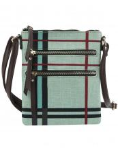 DX0073(MUL7SAGE)-wholesale-messenger-bag-plaid-checkered-woven-linen-vegan-leatherette-crossbody-zipper-pocket(0).jpg