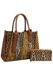 DX0078W(MUL1)-(SET-2PCS)-wholesale-handbag-wallet-leopard-snake-animal-pattern-vegan-leatherette-belt-buckle-compartment-set(0).jpg