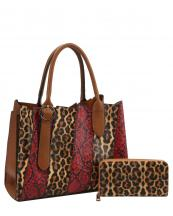 DX0078W(MUL2)-(SET-2PCS)-wholesale-handbag-wallet-leopard-snake-animal-pattern-vegan-leatherette-belt-buckle-compartment-set(0).jpg