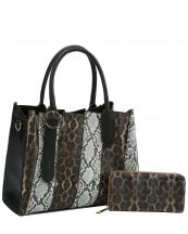 DX0078W(MUL3)-(SET-2PCS)-wholesale-handbag-wallet-leopard-snake-animal-pattern-vegan-leatherette-belt-buckle-compartment-set(0).jpg