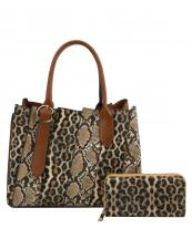DX0078W(MUL4)-(SET-2PCS)-wholesale-handbag-wallet-leopard-snake-animal-pattern-vegan-leatherette-belt-buckle-compartment-set(0).jpg