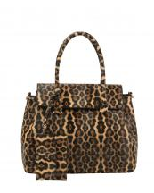 DXV0092(BR)-(SET-2PCS)-wholesale-handbag-wallet-leopard-animal-pattern-vegan-magnetic-snap-closure(0).jpg