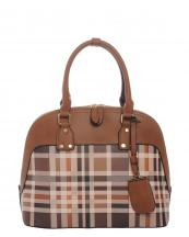 E0033(TAN)-wholesale-handbag-leatherette-plaid-checkered-solid-color-gold-tone-metal-name-tag-holder-fashion(0).jpg