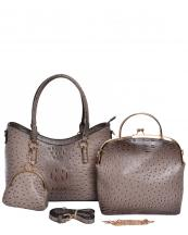 F0209(ST)-wholesale-handbag-3pc-set-coin-purse-alligator-ostrich-animal-pattern-vegan-leather-gold-metal-frame(0).jpg