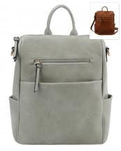 F0276(GY)-wholesale-backpack-crossbody-bag-pockets-solid-color-zipper-vegan-leatherette-strap-convertible(0).jpg