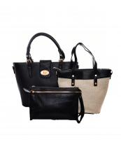 F03173S(BK)-Wholesale-Leatherette-Fashion-Straw-Vegan-Material-Detachable-3-in-1-Turn-Lock-Closure-Double-Carry(0).jpg
