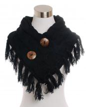 FN20122(BK)-wholesale-cable-knitted-botton-collar-style-scarf-acrylic-prezel-shorty-poncho-neck-tassel-frange(0).jpg