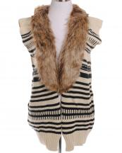 FP60323(BG)-wholesale-fashion-vest-faux-fur-black-stripe-one-size-acrylic-two-tone-knitted-warm(0).jpg