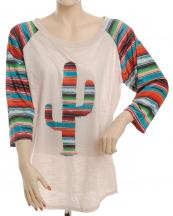 FXT225(BG)-SIZE(1XL)-wholesale-t-shirt-cactus-serape-multicolor-stripe-polyester-printed-graphic-sleeve(0).jpg