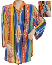 FXT229P(MUL)-SIZE(XL)-wholesale-top-serape-aztec-multicolor-stripe-button-roll-up-polyester-elastane-printed-graphic(0).jpg