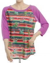 FXT231(PP)-SIZE(XL)-wholesale-t-shirt-floral-serape-cactus-multicolor-stripe-polyester-printed-graphic-solid-sleeve(0).jpg