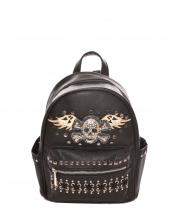 G46SK5(BK)-wholesale-backpack-wallet-skull-pattern-tribal-vegan-pocket-southwestern-color-bag(0).jpg