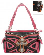 G939W122LCRA(BKHPK)-wholesale-handbag-leatherette-cross-rhinestones-silver-faux-leather-stitch-turquoise-stone-concealed(0).jpg